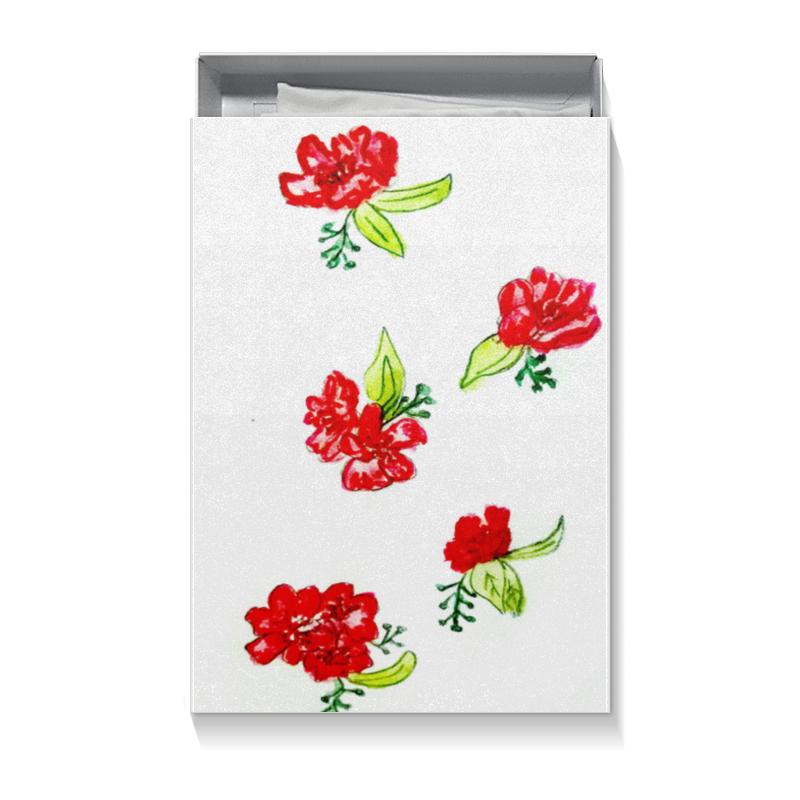 Printio Коробка для футболок Подарочная красные цветы
