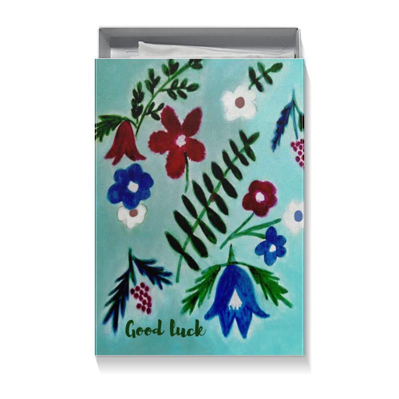 Printio Коробка для футболок Цветы на голубом