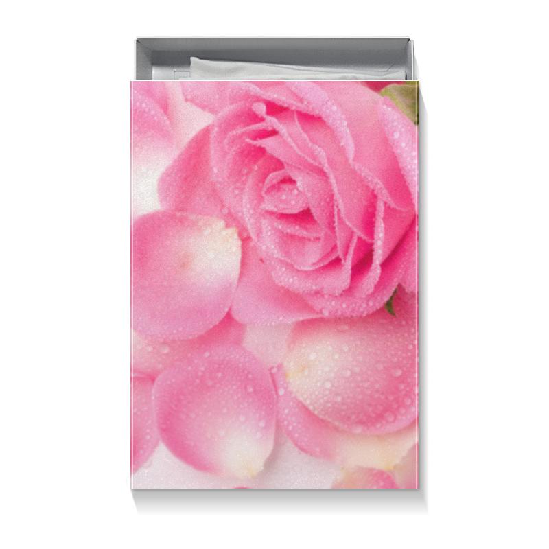 Printio Коробка для футболок Капли на лепестках розы