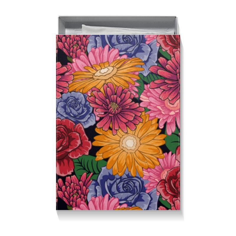 Printio Коробка для футболок Подарочная упаковка с ярким цветочным рисунком