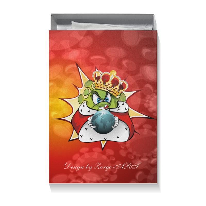Фото - Printio Коробка для футболок Ковид - царь мира. printio коробка для кружек ковид царь мира