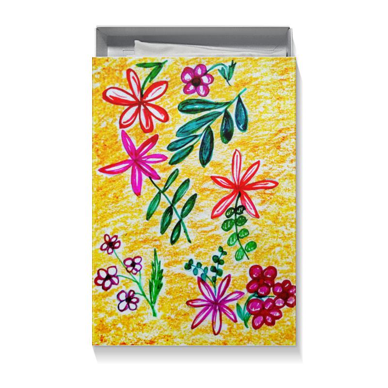 Printio Коробка для футболок Цветы на желтом