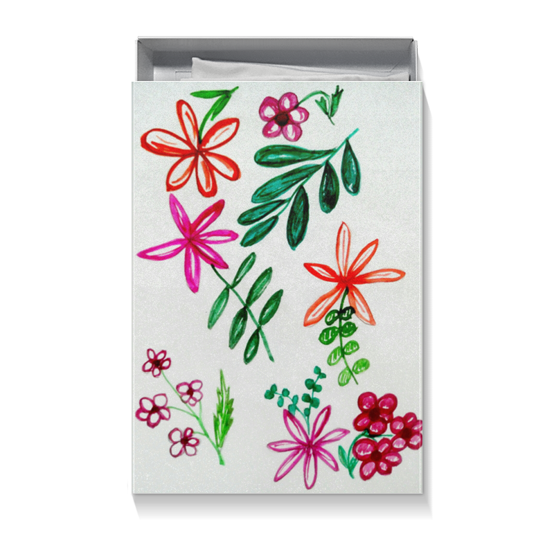 Printio Коробка для футболок Цветы на белом