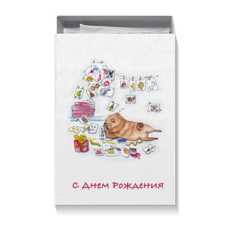 Printio Коробка для футболок Праздничный мопс