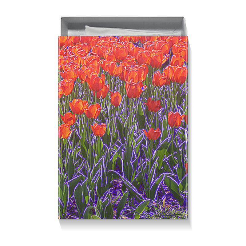 Printio Коробка для футболок Алые тюльпаны.