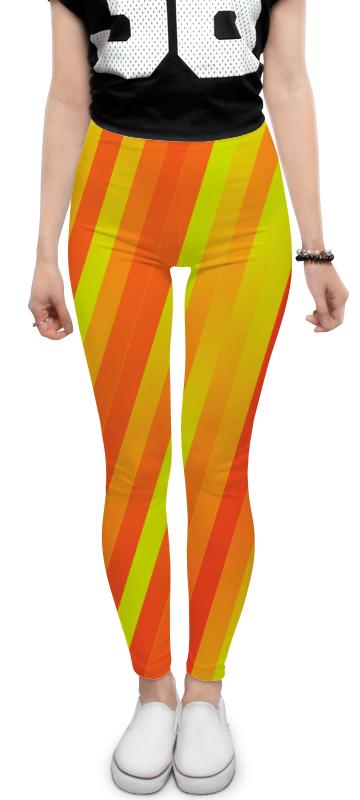 Printio Леггинсы Желто-оранжевые линии