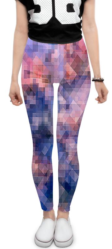 Printio Леггинсы Пиксель-арт. сине-розовый паттерн