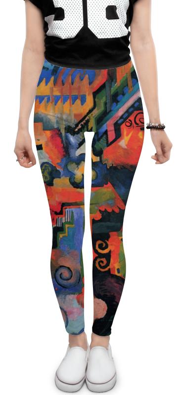 Printio Леггинсы Цветовая композиция (август маке)