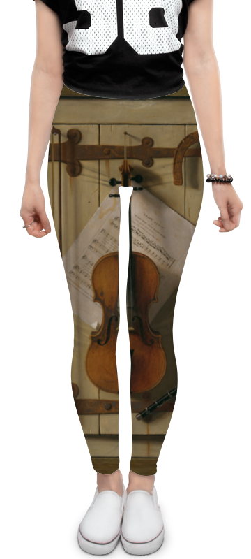 Printio Леггинсы Натюрморт со скрипкой (уильям харнетт)
