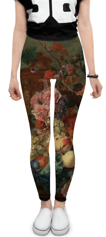 Printio Леггинсы Цветы (ян ван хёйсум)