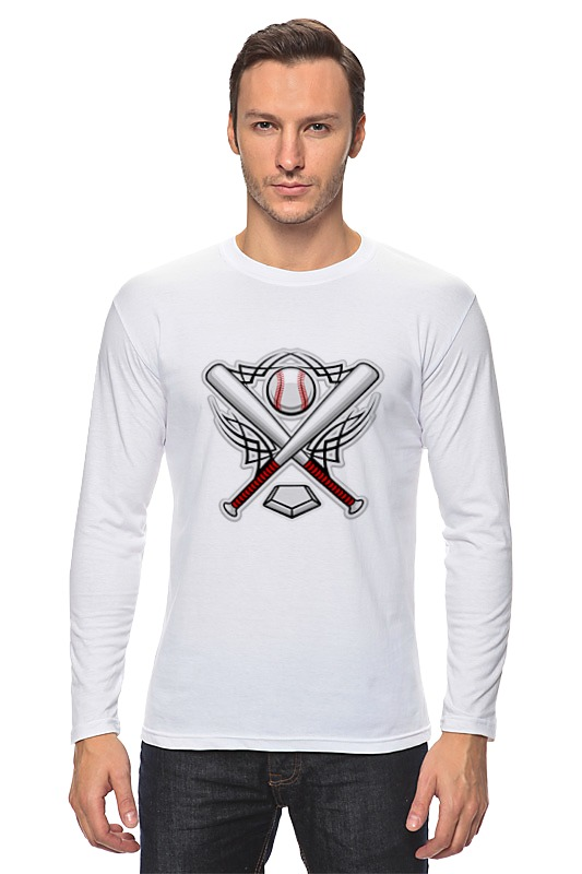 Printio Лонгслив Бейсбольная эмблема