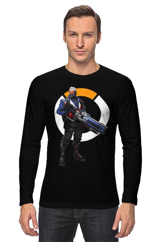 Printio Лонгслив Overwatch soldier 76 / овервотч солдат 76