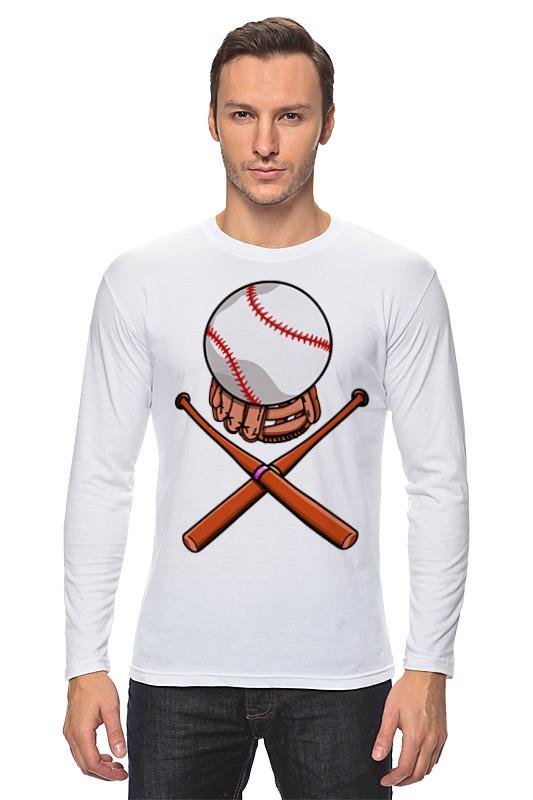 Printio Лонгслив Биты и мяч (бейсбол)