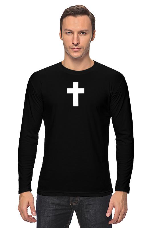Printio Лонгслив Белый крест