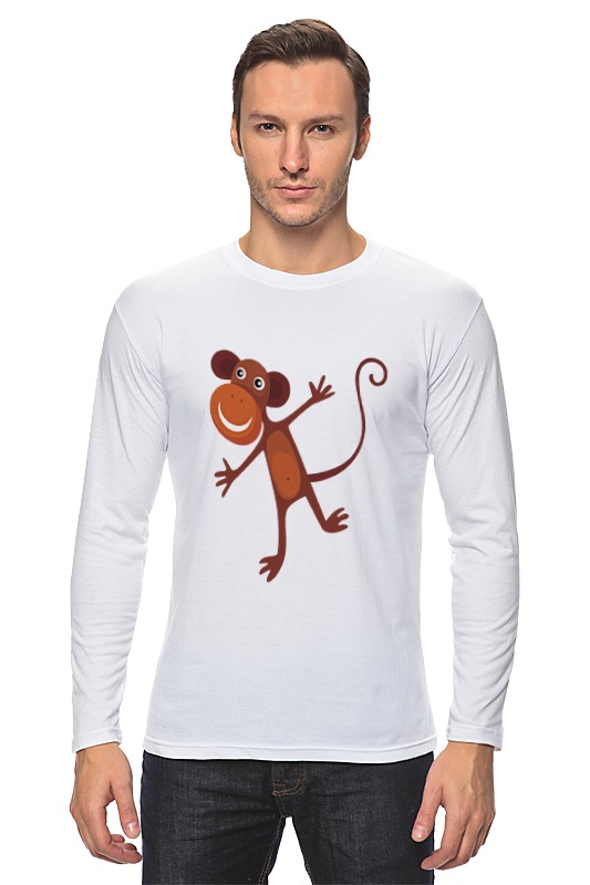 Printio Лонгслив Веселая обезьяна