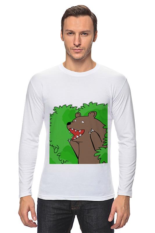 Printio Лонгслив Медведь из кустов