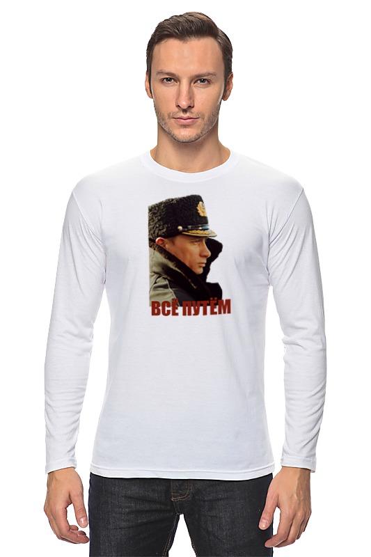 Printio Лонгслив Женская футболка с путиным