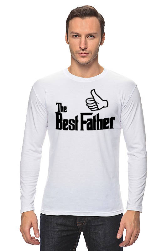 лонгслив printio yoda best Printio Лонгслив The best father, лучший отец