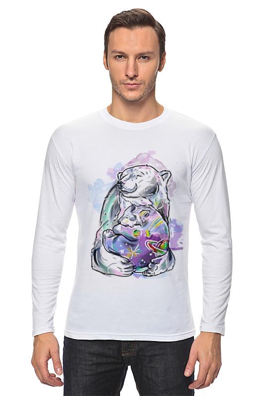 Printio Лонгслив Белый медведь