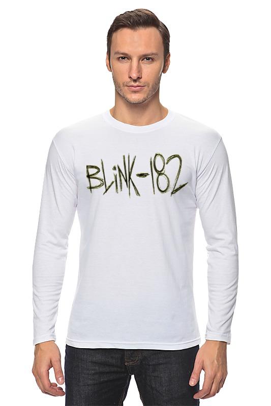 лонгслив printio blink 182 Printio Лонгслив Blink-182 yellow logo