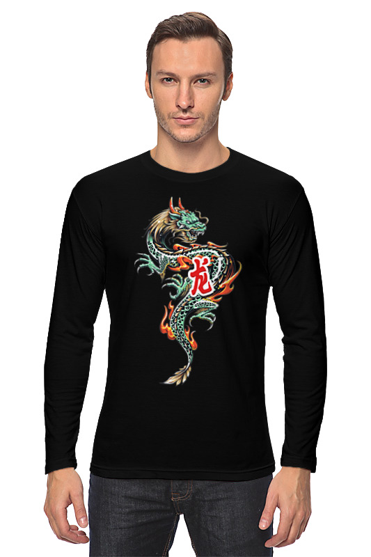 printio лонгслив китайский дракон Printio Лонгслив Дракон
