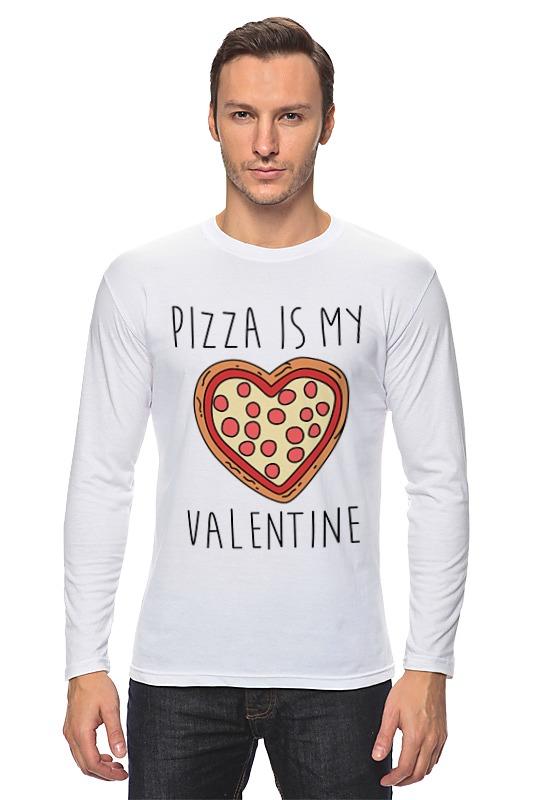 Printio Лонгслив Пицца - мой валентин