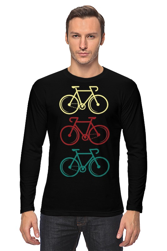 Printio Лонгслив Велосипеды