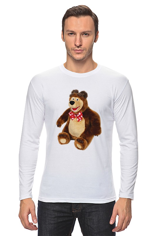 Printio Лонгслив Медведь.мягкая игрушка. любимый мульт.