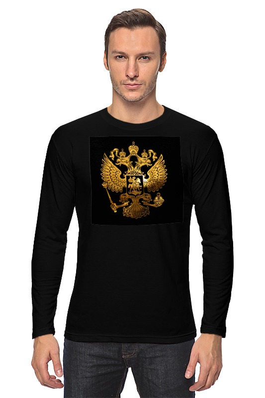 Printio Лонгслив Россия - флаг - герб (3)