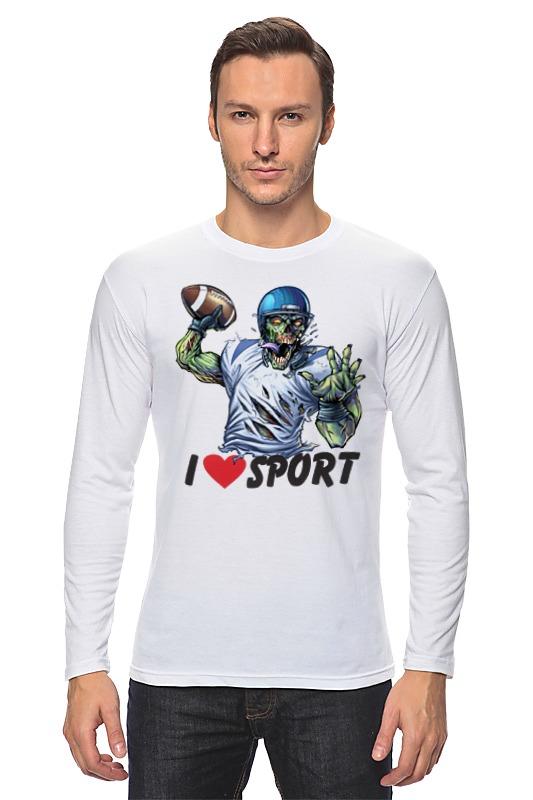 Printio Лонгслив Зомби спорт - я люблю спорт