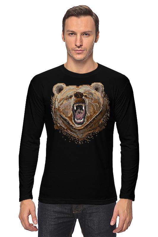 Printio Лонгслив Пиксельный медведь