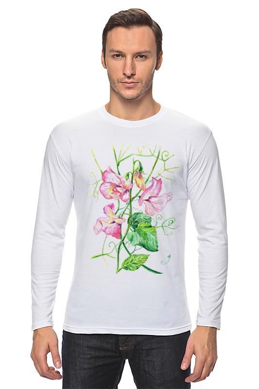 Printio Лонгслив Цветы душистый горошек