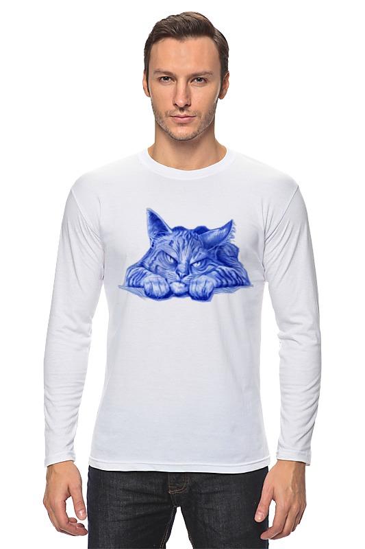 Printio Лонгслив Задумчивый кот
