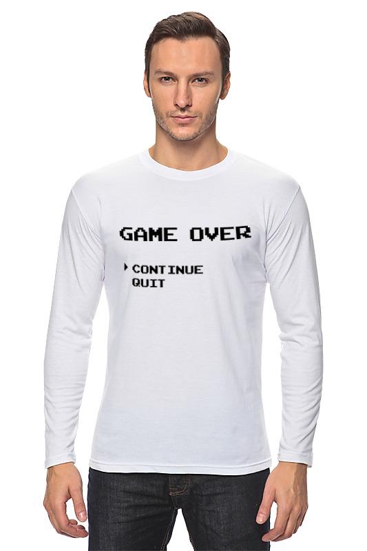 Printio Лонгслив Game over (8-bit) printio лонгслив game over