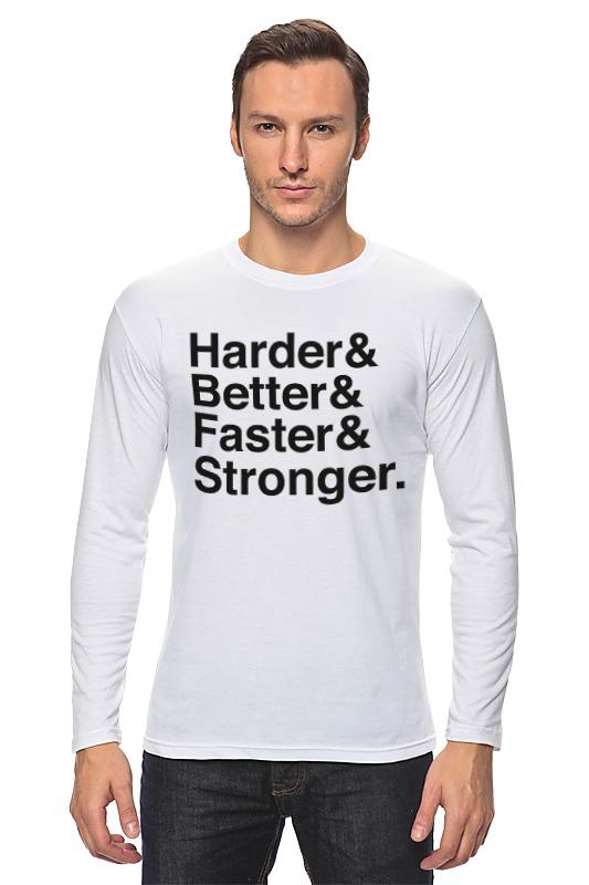 Printio Лонгслив Harder, better, faster, stronger