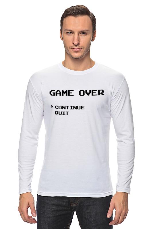 Printio Лонгслив Конец игры (game over) printio лонгслив game over