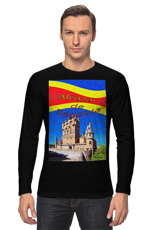 Printio Лонгслив Замки испании. замок сеговия.