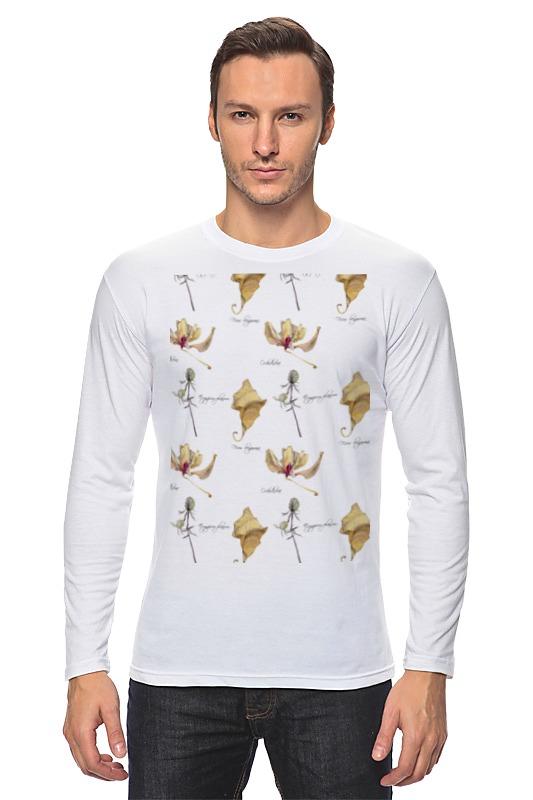 Printio Лонгслив Орхидея,лист и колючка