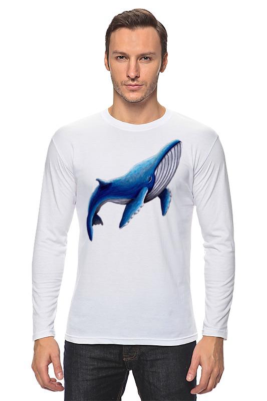 Printio Лонгслив Синий кит