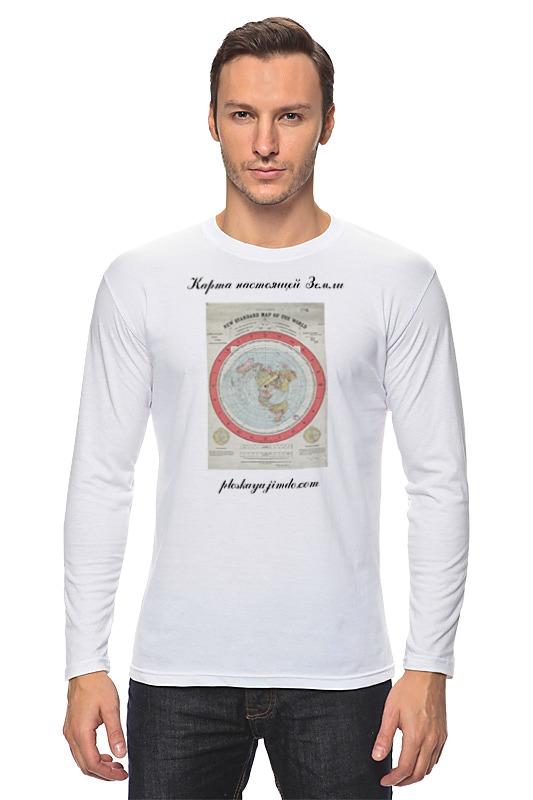Printio Лонгслив Карта плоской земли