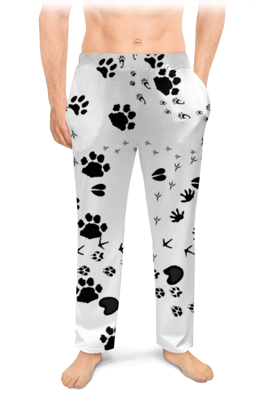 Printio Мужские пижамные штаны Следы животных