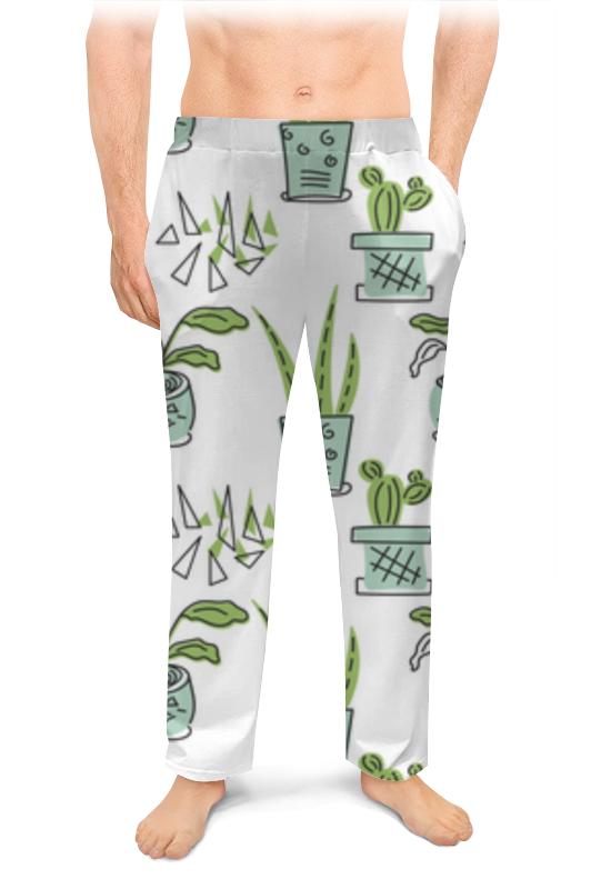 Printio Мужские пижамные штаны Комнатные растения, кактусы