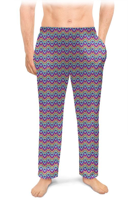 Printio Мужские пижамные штаны Абстракция. кольца