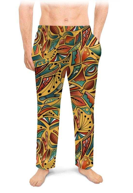 Printio Мужские пижамные штаны Абстрактное на желтом