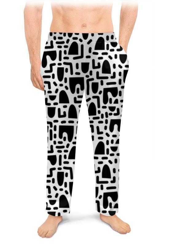 Printio Мужские пижамные штаны Черно-белая абстракция