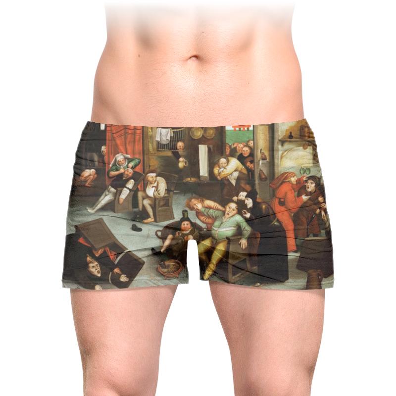 Printio Трусы мужские с полной запечаткой Извлечение камня глупости (брейгель младший)