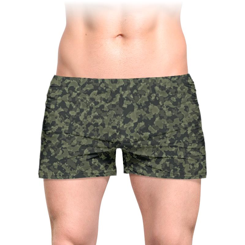 Printio Трусы мужские с полной запечаткой Хаки милитари абстракция