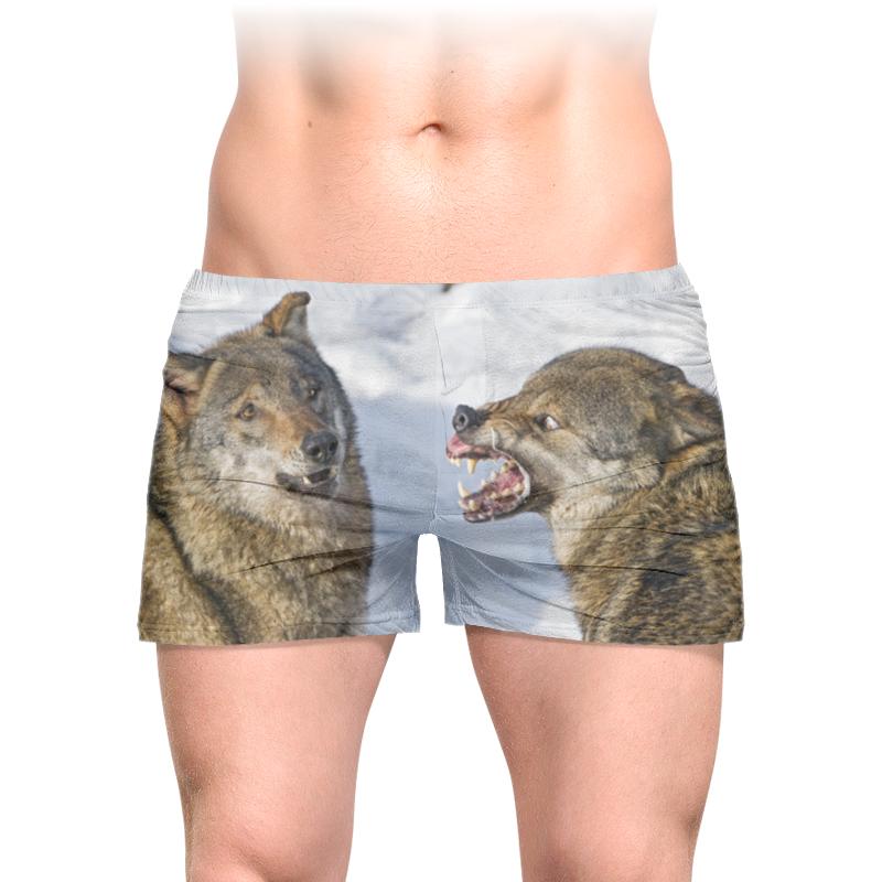 Printio Трусы мужские с полной запечаткой Мемы с волками