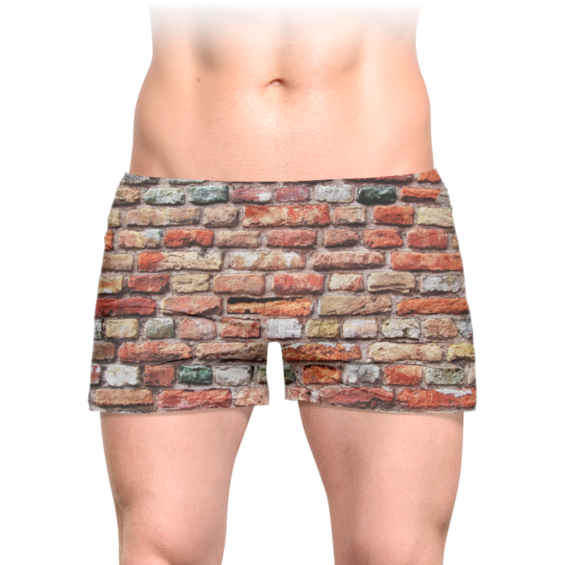 Printio Трусы мужские с полной запечаткой Кирпичная стена
