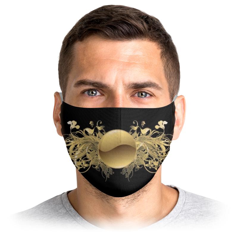 Printio Маска лицевая Золото на черном printio маска лицевая смотри на меня